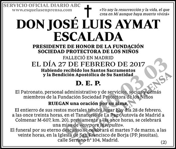 José Luis Aymat Escalada